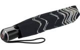 Knirps Regenschirm Taschenschirm Large Duomatic floripa black mit UV-Schutz