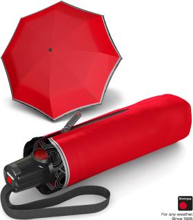 Knirps Taschenschirm T.100 Duomatic Auf-Zu-Automatik ID Border - red