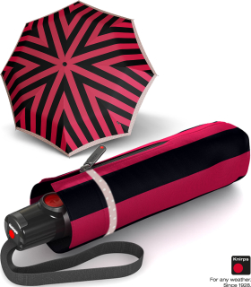 Knirps Taschenschirm T.100 Duomatic Auf-Zu-Automatik UV Schutz Iguacu - red