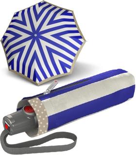 Knirps Taschenschirm T.100 Duomatic Auf-Zu-Automatik UV Schutz Iguacu - marina