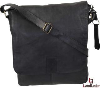 LandLeder Umhängetasche Postbag CAMBRIDGE - schwarz