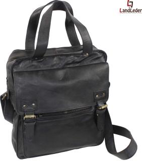 LandLeder Umhängetasche Messenger Postbag CAMBRIDGE - schwarz