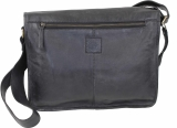 LandLeder Umhängetasche Full Flap Bag CAMBRIDGE - schwarz