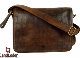 LandLeder Umhängetasche Full Flap Bag CAMBRIDGE - braun