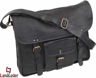 LandLeder Umhängetasche Messengerbag CAMBRIDGE - schwarz