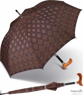 Stützschirm mit Fritzgriff aus Holz mit Automatik stabil windfest - elegance 86 cm