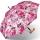 Stützschirm mit Fritzgriff aus Holz mit Automatik stabil windfest - delicate flowers 86 cm