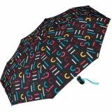 Esprit Taschenschirm Easymatic Light mit Auf-Zu Automatik Letterjam - multicolor