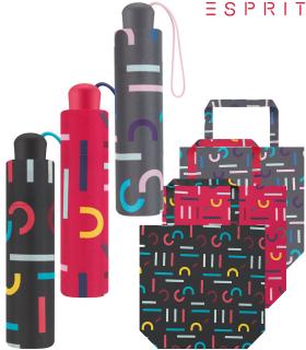 Esprit Mini Taschenschirm mit Shopper-Bag - Letterjam