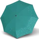 Knirps Taschenschirm T.200 Duomatic - stabil und sturmfest - Solids Reflective - lake