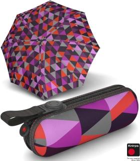 Knirps X1 Super-Mini-Taschenschirm im Etui - Madonna - purple