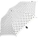 Knirps Taschenschirm Slim Duomatic Auf-Zu-Automatik Polka Dots - white-black