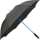 iX-brella Automatik XXL Golfschirm mit farbigem Gestell aus Fiberglas - blau