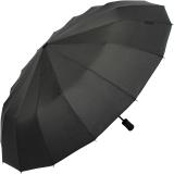 iX-brella 16-teiliger Taschenschirm mit Handöffner - schwarz