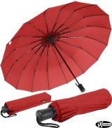 iX-brella 16-teiliger Taschenschirm mit Handöffner - rot