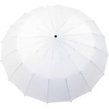 iX-brella 16-teiliger Taschenschirm mit Handöffner - weiß