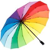 iX-brella 16-teiliger Taschenschirm mit Handöffner - Regenbogen