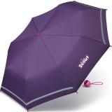 Scout Kinderschirm Mini Taschenschirm Basic mit reflektierenden Streifen - dark lilac