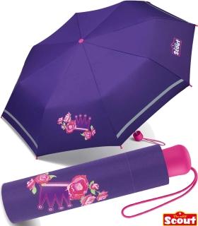 Scout Kinder-Taschenschirm mit reflektierenden Streifen Flower Princess