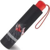 Scout Kinder-Taschenschirm mit reflektierenden Streifen Red Racer