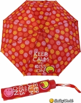Smiley Mini Taschenschirm lustig bedruckt - Keep Calm And...