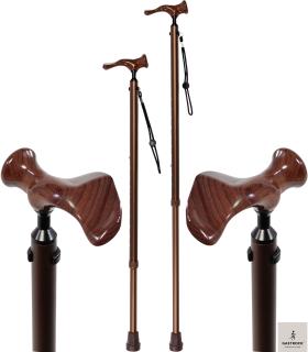 Gastrock Gehstock Comfort-Stock mit anatomischem Griff in Holzoptik