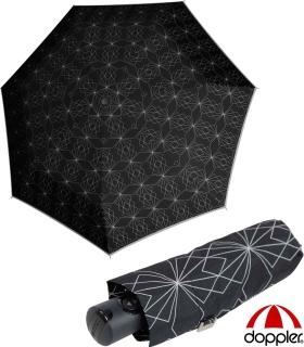 Doppler Damen Taschenschirm Magic XS Carbonsteel mit Auf-Zu-Automatik Paris - schwarz