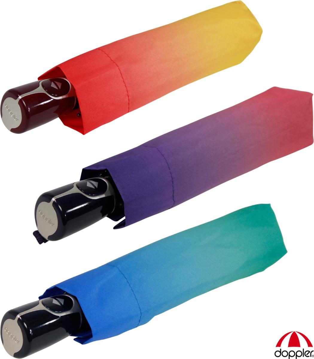 doppler Taschenschirm Regenschirm Minischirm Handtasche Fiber Handy Uni blau