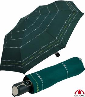 Doppler Damen Taschenschirm mit Auf-Zu-Automatik Magic Fiber Sydney - green