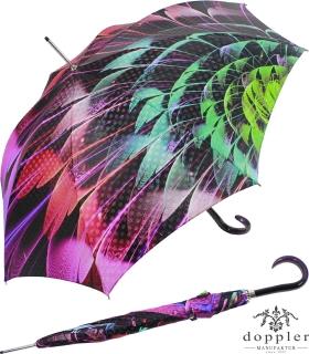 Doppler Manufaktur Stockschirm VIP Damen Elegance Boheme Exotic Feather