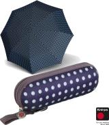 Knirps Supermini Regenschirm X1 Dots navy