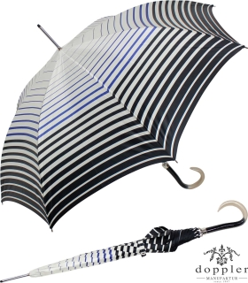 Doppler Manufaktur Stockschirm VIP Damen Elegance Boheme Stripes Blue-Black