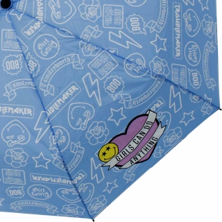 Smiley World Taschenschirm mit Spardose Girl Gang - blau