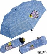 Smiley World Taschenschirm mit Spardose Girl Gang - blau