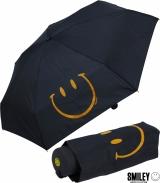 Smiley World Super Mini Taschenschirm - schwarz