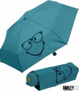 Smiley World Super Mini Taschenschirm - blau