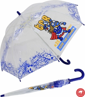 Kukuxumusu Kinder Stockschirm transparent Superheroes - blau