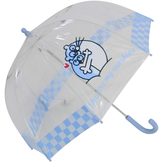 Kukuxumusu Kinder Stockschirm transparent Fairytale - hellblau