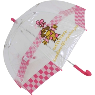 Kukuxumusu Kinder Stockschirm transparent Fairytale - pink
