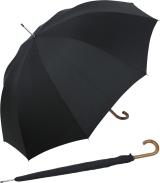 neyrat Regenschirm Stockschirm mit Holzgriff und...