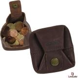 LandLeder Mini-Faltbörse PINCH OF WAX - braun